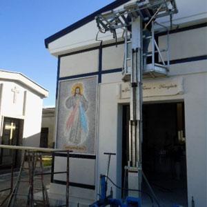 Mosaico Artistico per lil Cimitero la Divina Misericordia di Mondagrone