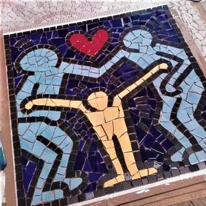 Mosaico progetto Haring
