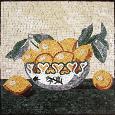 Decorazioni in marmo di frutta e verdura