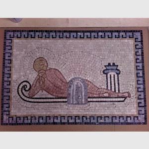 Mosaico Artistico di una Dea sdraiata