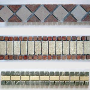 Mosaico Fasce pretagliate